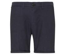Chino-Shorts mit Bügelfalte blau
