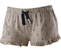 Shorts dunkelblau / greige