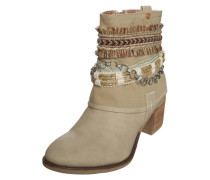 Ankle Boots im Cowboy-Look beige