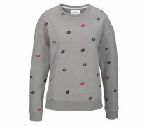 Sweatshirt dunkelblau / grau / rot