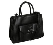 Handtasche mit Steppnähten schwarz