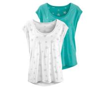 T-Shirts (2 Stück) blau / weiß