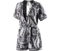 Swamis Romper Jumpsuit Damen schwarz / weiß