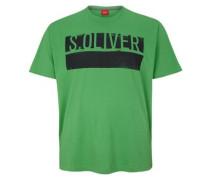 T-Shirt mit Logo-Print grün