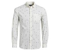 Komplett bedrucktes Freizeithemd weiß