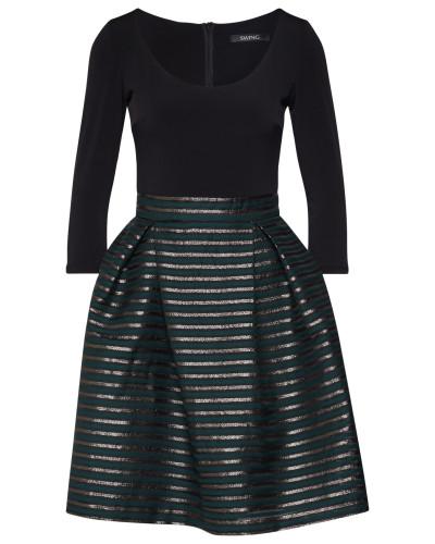 Kleid gold / tanne / schwarz