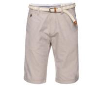 Bermuda-Shorts mit Gürtel nude