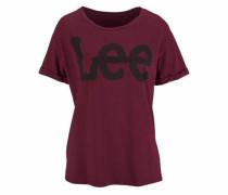 T-Shirt 'Logo Tee' dunkelrot / schwarz