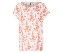 Blusenshirt 'timia 1' koralle / weiß