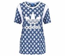 T-Shirt 'BF Trefoil Tee' blau / weiß
