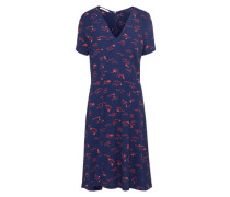 Kleid 'Miss Flowers' blau