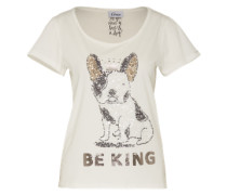 Shirt 'Be King' weiß