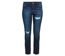 Curvy Slim: Jeans mit Destroyes blau