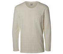 Langärmeliges T-Shirt weiß