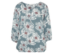 Bluse mit floraler Musterung petrol / offwhite