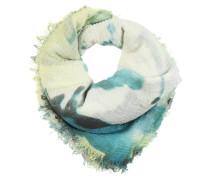 Halstuch mit Fransen grün / mischfarben