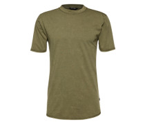 T-Shirt 'onsPALLE Fitted Curved SS' khaki