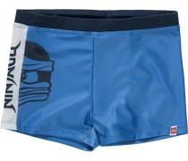 Badehose 'ninjago' für Jungen blau / dunkelblau / naturweiß