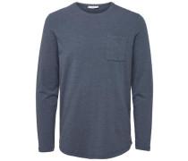 T-Shirt Rundhalsausschnitt- blau