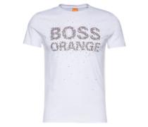 T-Shirt mit Front-Print 'Turbulence 1' weiß