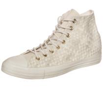 """High Sneaker """"Chuck Taylor All Star Denim Woven"""" beige / weiß"""