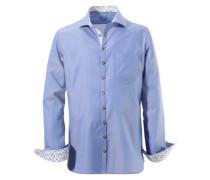 Trachtenhemd mit Struktureffekt blau