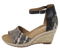 Sandalette im Materialmix mischfarben