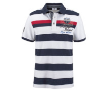 Poloshirt »Piqué Qualität« blau / weiß