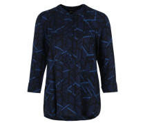 Dreiviertelarm-Bluse blau / schwarz