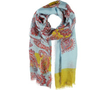 Leinen-Modal-Seiden Schal blau