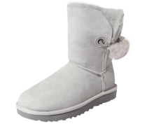 Boots mit Fellfutter 'Irina' hellgrau