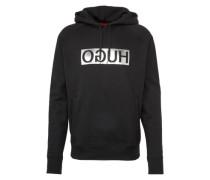 Sweatshirt 'D/unisex-silver' schwarz