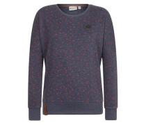 Female Sweatshirt 'Der Gesäß' dunkelblau / rot