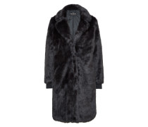 Wintermantel 'fur' schwarz