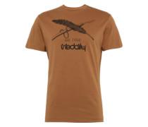 Print Shirt karamell / schwarz