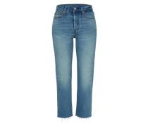 'Wedgie Straight' Jeans hellblau