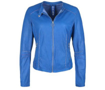Lederjacke 'kelly' royalblau