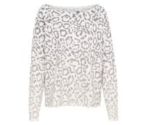 Pullover 'Devore' lila / offwhite