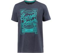 'stone' T-Shirt taubenblau