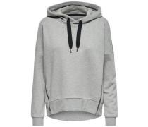 Einfarbiges Sweatshirt graumeliert