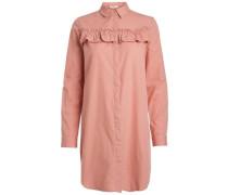 Langes Rüschen-Hemd rosé