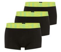 Pants im 3er-Pack 'Shawn' neongelb / grau