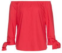 Shirt / Blouse Carmen-Bluse mit Knoten-Detail hellrot