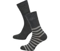 2 Paar Socken graphit
