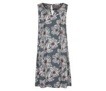 Kleid mit Blumenmuster petrol / mischfarben / offwhite