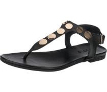 Sandaletten gold / schwarz