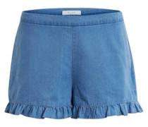 Rüschendetaillierte Shorts 'vigia' blau