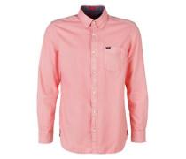 Regular: Schlichtes Baumwollhemd pastellrot