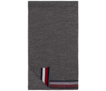 Schal 'knitted Corporate Stripe Edge Scarf' silbergrau / graumeliert