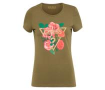 T-Shirt 'diamond Rose' oliv